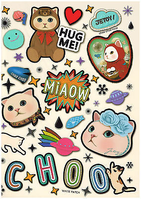 Jetoy Choo Choo A5 Friends Kawaii Notebook: White Patch