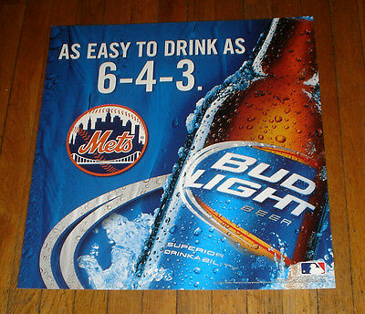 Ny Mets 6-4-3 Budweiser Bud Light Nyc Subway Poster
