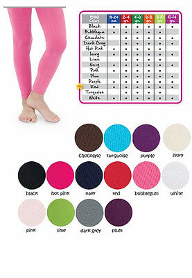 JEFFERIES Pima Cotton Footless Ankle Tights 2 to 14 years Many Colors Breathable