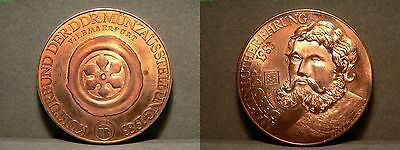 Martin Luther Ehrung 1983 DDR Medaille - Kupfer - Relief - 29,1g - 40mm