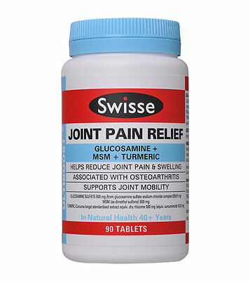 Swisse Ultiboost Glucosamine MSM Joint Pain Swelling Relief 90 Tablets