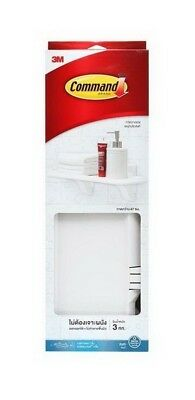 3M Command Bathroom White Plate Shelf With Water-Resistant Strips Damage Free