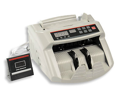 Money Counter Bill Note Counting Machine Multi-Currency Counterfeit Detector NEW