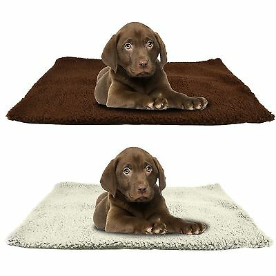 Luxury Pet Cat Dog Rug Mat 46cmx64cm Self Heating Warm Thermal Machine Washable