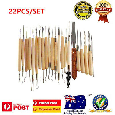 22pcs Pottery Sculpture Tools Clay Sculpting Carving Polymer Modeling Craft Set