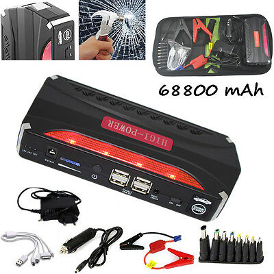68800mAh Jump Starter Power Battery Charger for Petrol Laptop Car Jumper Booster