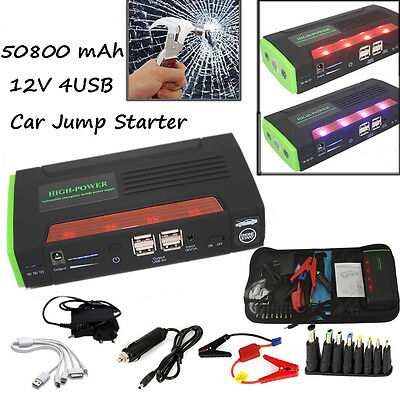 Car Jump Starter Emergency Auto Power Bank Battery Charger For Laptop 68800mAh