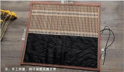 Chinese bamboo Writing Brushes roll bag/ Hanger/Case Calligraphy Tools
