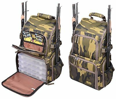 Spro Camouflage Back Pack Rucksack Spinnertasche incl 4 Boxen - 006203 03000
