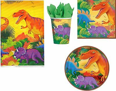 Prehistoric Dinosaur Birthday Party Tableware Napkins Plates Cups Tablecover