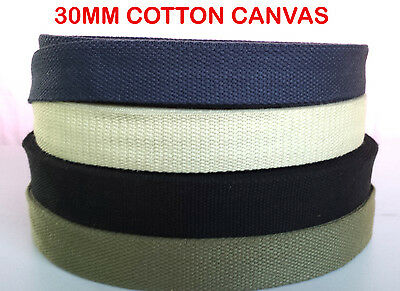 38 mmX3 mm thick blac cotton strong reinforced canvas tape bunting webbing strap