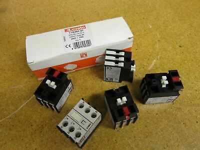 Lovato 11G48421 AUXILIARY CONTACTS W/ FRONT CENTER MOUNTING 2NO+1NC (Lot of 5)