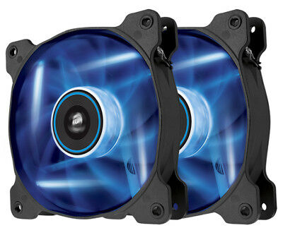 Corsair Air SP120 Blue LED 120mm High-Airflow Low Noise PC Case Fan Twin Pack