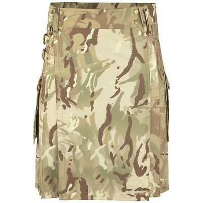 Highlander Tactical Mens Combat Kilt Cargo Army Military Ripstop HMTC Camouflage
