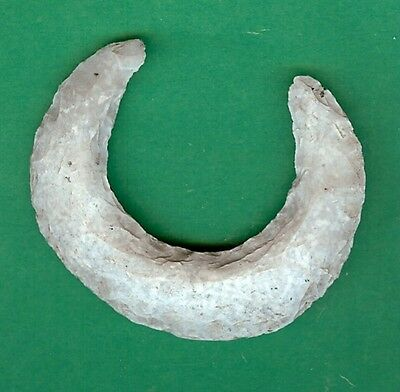 """Mayan Ceremonial Eccentric Flint, Nose Ring, Papered by Stermer 2-1/16"""" x 2-3/8"""""""