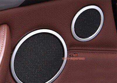 S/Steel Door Speaker Sound cover Chrome trim ring For BMW X5 E70 X6 E71 08-13