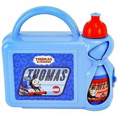 Thomas The Tank Engine Kids Childrens School Lunch Box With Drinks Bottle