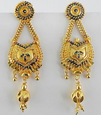 Indian Ethnic Bollywood Gold Plated Jhumka Women Traditional Jewelry Earrings