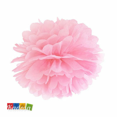 Pom Pom di Carta ROSA 25cm Decorazioni Tissue Party Matrimonio Wedding Battesimo