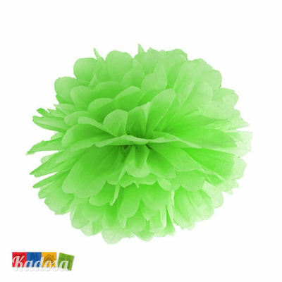Pom Pom di Carta VERDE 25 cm - Decorazioni Tissue Party Matrimonio Wedding Lime