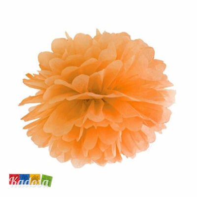 Pom Pom di Carta ARANCIO 25 cm - Decorazioni Tissue Party Matrimonio Wedding
