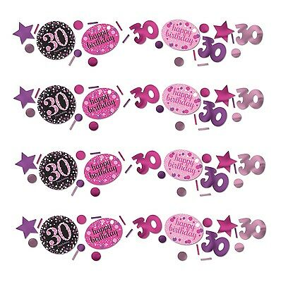 Pink Sparkling Celebration Happy 30th Party Table Confetti | Decoration 1-5pk