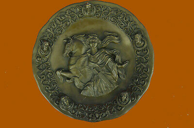 Greek Myth Goddess Of Wisdom And War Ride Bronze Sculpture Handmade Figure
