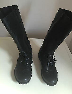 Next Kids Girl's Leather Boots Size 2 Uk