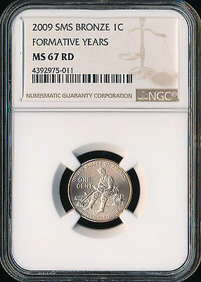 2009 Lincoln Cent Formative Years Ngc Ms67 Red Sms