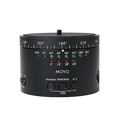 Movo Photo MTP-10 Motorized Panaromic Time Lapse Tripod Head with Variable Sp...