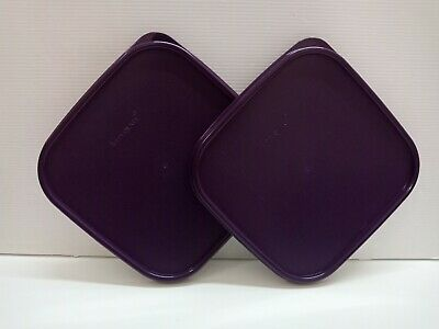 2 Tupperware Modular Mates Square Red Seal Replacement MM Cover Lid #1623 New