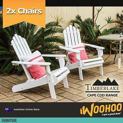 Cape Cod Hardwood Outdoor Chair Adirondack Outdoor Hardwood Chairs - Set of 2