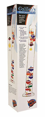 Galileo Thermometer - 44cm Measures 16-34 degrees C