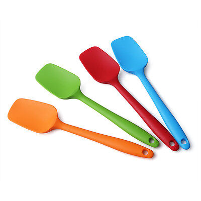 1 pcs Silicone Mixing Spoon Kitchen Spatula Cooking Baking Heat Resistant Tools