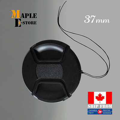 37mm Front Lens Cap Hood Cover Snap-on for Canon Sony Olympus Nikon Camera