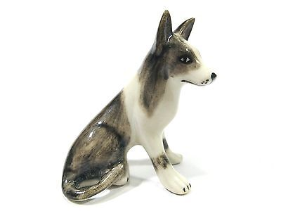 Animals Dollhouse Miniatures Small Tiny Collectible Ceramic Collie Dog Figurine