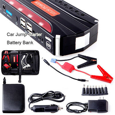 12V 68800mAh Car Jump Starter Power Battery Charger Booster Emergency Bank Boat
