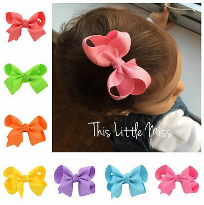 20pcs Kids Baby Girls Children Toddler Flowers Hair Clip Bow Accessories NEW