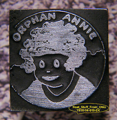 "Orphan Annie, Letterpress Printer's Block (Extremely Rare ""Right-Reading"")"