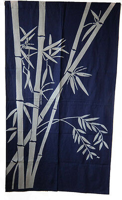 JAPANESE Noren Curtain NEW Dyeing NOREN COTTON BAMBOO FROM JAPAN