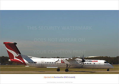 QANTASLINK BOMBARDIER DHC-8 402Q AIRCRAFT A3 POSTER PRINT PICTURE PHOTO IMAGE x