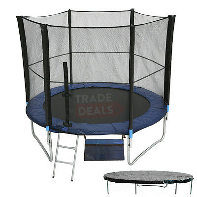 XL 8 FT Foot Trampoline Garden Outdoor Fitness Exercise Adults/Kids UK Next Day