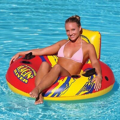 Airhead Ragin River Beach Pool Watersports Inflatable Ring Arm Chair Lounger