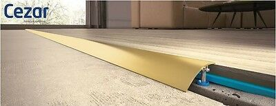 Aluminium Door Bars Threshold Strip Transition Trim Laminate VARIOUS SIZES GOLD