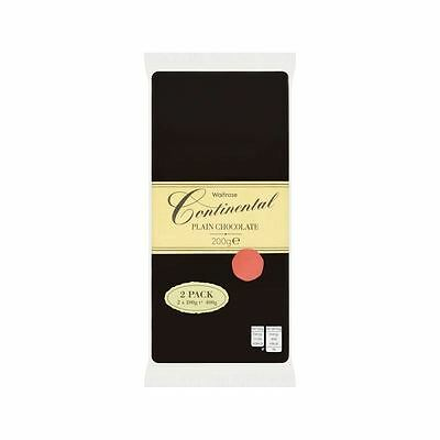 Continental Plain Chocolate Waitrose 2 x 200g • AUD 16.99