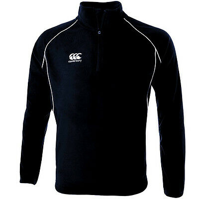 Canterbury Classic 1/4 Zip Fleece - Black