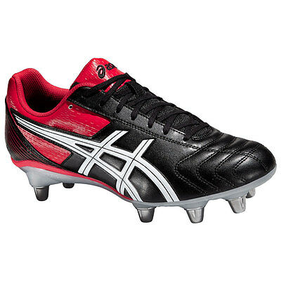 Asics Men's Lethal Tackle Rugby Boots Black Red Rugby RRP £60