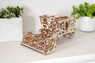 UGears * COMBINE * Self-propelled mechanical wooden model KIT 3D puzzle Assembly