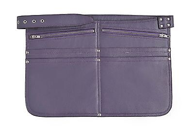 Purple Cash Bag Real Leather Money Belt Market Traders Shoulder Strap Travel