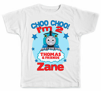Personalized Thomas the Train Style B Birthday T-Shirt